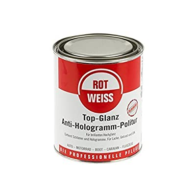 Rot Weiss Top Gloss Anti Hologram Polish/Red/White (1500): Automotive