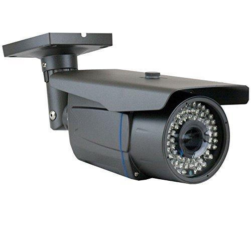 GW Security 2.1MP 1080p 4-in-1 HD TVI/AHD/CVI / 960H 1200TVL CCTV Outdoor Indoor Bullet Security Camera, 2.8-12 mm Varifocal Zoom Lens, 72 LED, 196-Feet IR Distance (Grey)