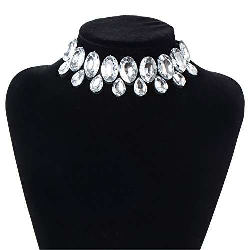 Newly Style 2019 Women Necklace Statement Necklaces & Pendants Choker Necklace for Women Jewelry NL612 White ()