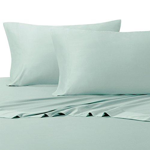 Bamboo Bed Sheet Set - Royal Tradition 100 Percent Bamboo Bed Sheet Set, Top Split King, Solid Sea, Super Soft and Cool Bamboo Viscose 4PC Sheets