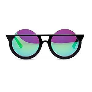 Unisex Glasses Sunglasses Fashion Men Womens Retro Vintage Round Glasses Cat Eye Frame UV Sunglasses (A, 5.3)