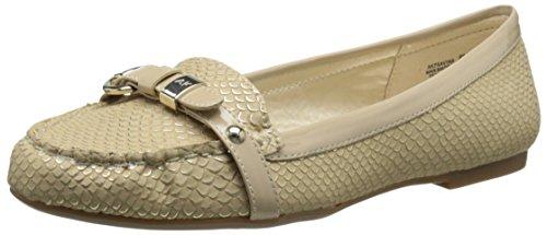 AK Anne Klein Women's 7Savina Slip-On Loafer, Light Natural, 5.5 M US