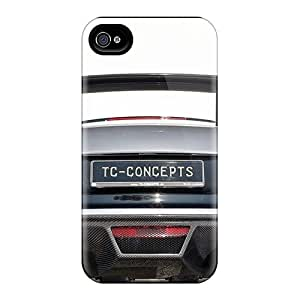 Fashion Tpu Case For Iphone 4/4s- Cars Silver Audi R8 Defender Case Cover