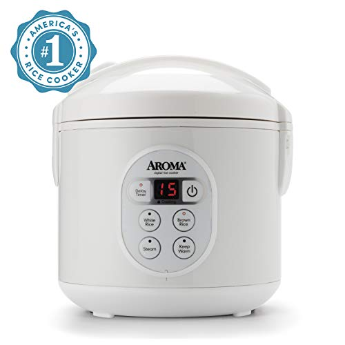 affordable Aroma Housewares 8-Cup (Cooked) (4-Cup UNCOOKED) Digital Rice Cooker and Food Steamer (ARC-914D),White