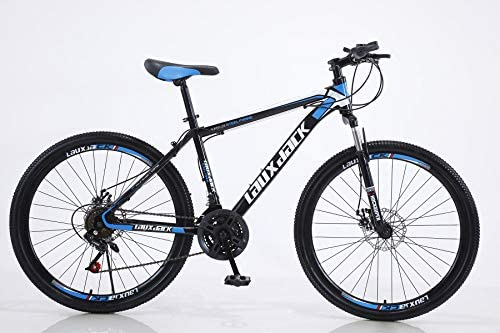 Black HIRUNS Full Mountain Bike,Mens and Womens Professional 21 Speed Gears 26in Bicycle Twist Shift