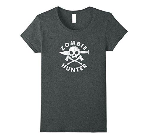 Womens Zombie. Hunter.: Funny hunter of zombies t-shirt Medium Dark Heather