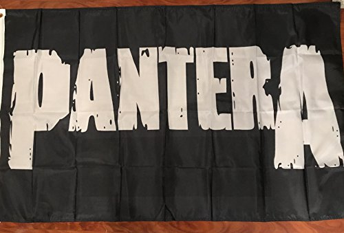 Pantera 3'x5' black flag banner - rock metal Dimebag Darrell