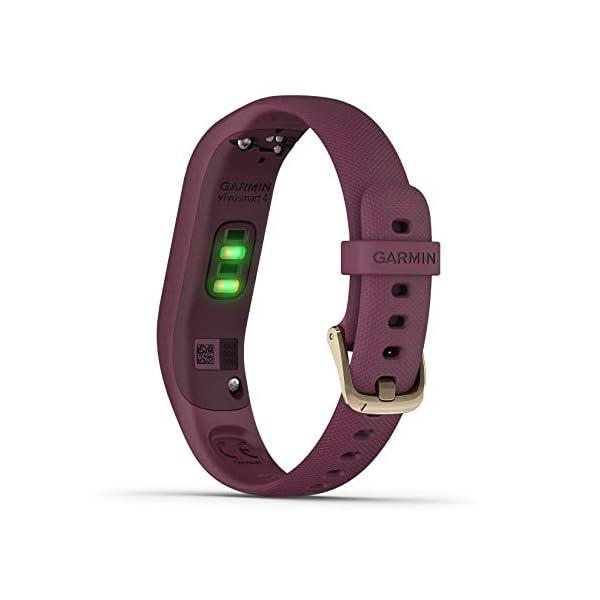 Best fitness trackers Garmin 010-N1995-01 Refurbished vivosmart 4 Activity Tracker, Merlot with Rose Gold,