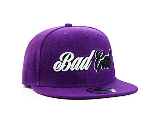 "Metro Kulture ""Bad Gal"" Purple Snapback Gorra de béisbol"