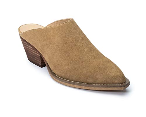 Jane and the Shoe Karissa Tan Suede Mule 9.5 -
