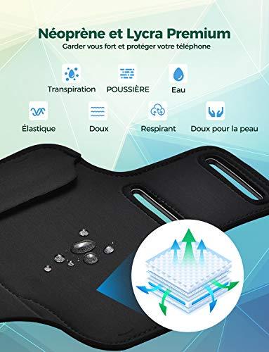 Mpow Brassard Telephone, Brassard Sport Aujustable Anti-sueur Armband avec des Sangles Réfléchissante pour iphone 11…