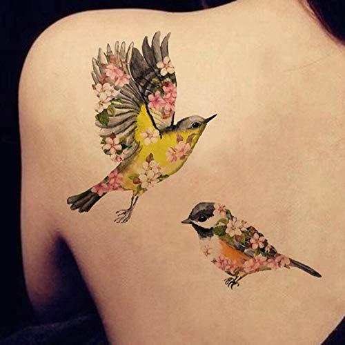tzxdbh 1 Hoja Brillo Colorido Flash Tattoo Impermeable Tatuaje ...