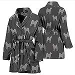 Simply Cool Trends Akita Dog Pattern Print Women's Bath Robe 7