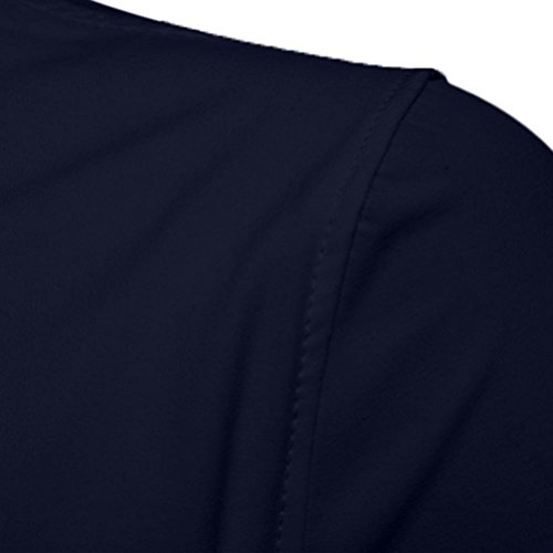 Pervobs Long Sleeve Shirts, Big Promotion! Mens Casual Solid Half Sleeve Formal Suits Slim Fit Tee Dress Shirts Blouse Top (M, Navy) by Pervobs Mens Long Sleeve Shirts (Image #3)