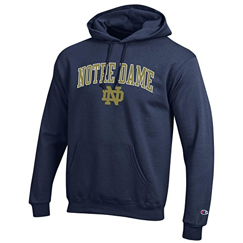 Elite Fan Shop Notre Dame Fighting Irish Hoodie Sweatshirt Navy - 2XL - Navy Blue