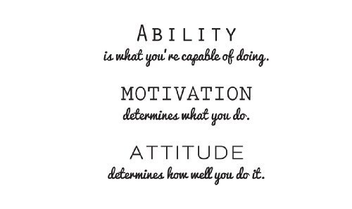 Inspirational Attitude Vinyl Wall Decal Quotes Wall Stickers