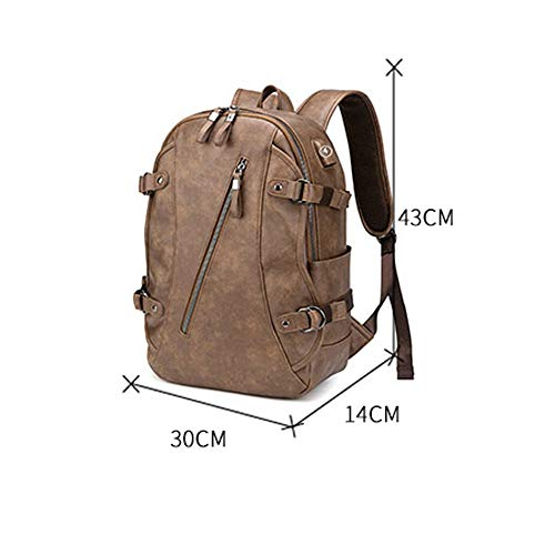 Per Studenti Viaggio Backpack Semplice Uomo Khaki Zaino Uomo Pollici Viaggio Khaki Tendenza Borsa 14 Universitari color Da SHASB