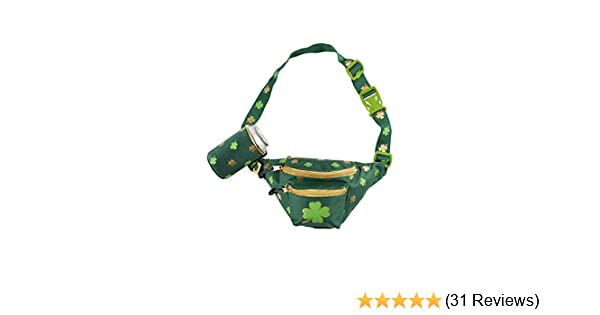 Rainbow Shamrock Clover Sport Waist Bag Fanny Pack Adjustable For Run