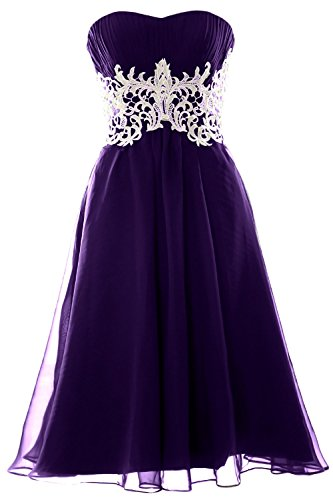 MACloth Women's High Neck Short Lace Homecoming Prom Dress Formal Party Gown (EU40, Teal)
