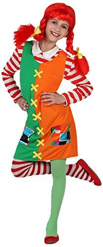 Atosa-23726 Disfraz Niña Traviesa, Color Naranja, 5 a 6 años (23726