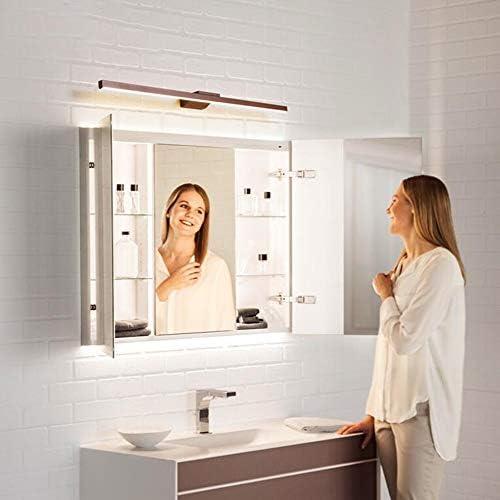 OUPAI Spiegelleuchten LED-Spiegel-Kabinett-Licht, LED-Leuchten Vanity LED Bad Licht Moderne Einfachheit Schlafzimmer Frisiertisch Lampe for Badezimmer, Schlafzimmer, über Krankenhausbetten Brown Spieg