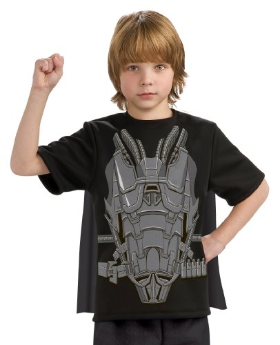 Man of Steel General Zod Costume Top with Cape Children's Costume, Large