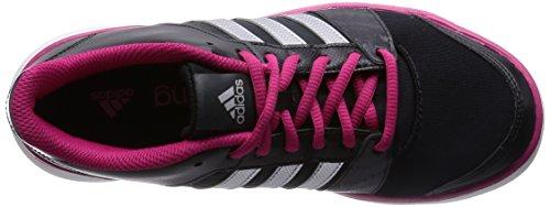 adidas Essential Fun, Women's Running Shoes Black - Schwarz (Black/Silver Met./Bold Pink)