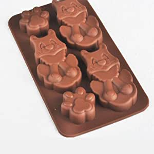Cat Shaped silicona Back Vajilla Chocolate moho, forma de Ice