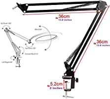 Acetaken Workbench Light Desk Ring Light with Swivel Clamp Arm,6 USB Ring Light for Reading,Craft,Makeup,YouTube,Live Streaming,Study,Architect Drafting