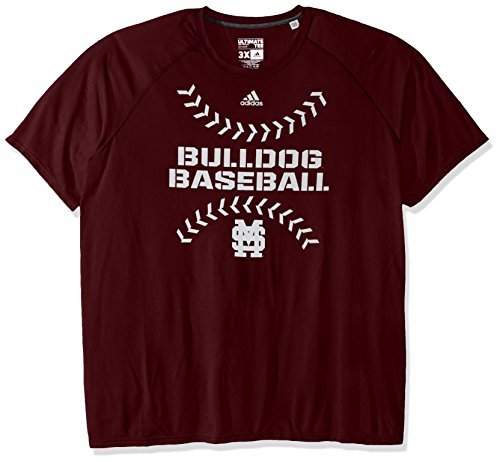 NCAA Mississippi State Bulldogs Men's Big Stitches Climalite Ultimate Short Sleeve Tee, X-Large, Maroon