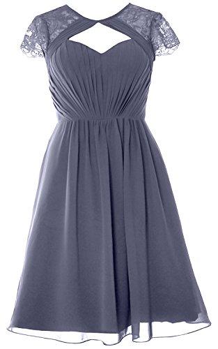 Dress Formal Bridesmaid Sleeves Short Blue Party Steel Wedding Gown Macloth Elegant Cap