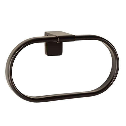 MAYKKE Dash Towel Ring for Bathroom or Kitchen, Oil-Rubbed Bronze DLA1030103 Cabrina Towel Bar