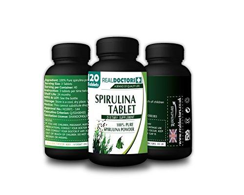 Organic 120 Spirulina 500mg Tablets Detox Helps Detox Cleanse Diet Plans Best Detox Diet Optimum Nutrition Immune System Booster Essence of Vitality Lean Body for Her Immune Stimulator