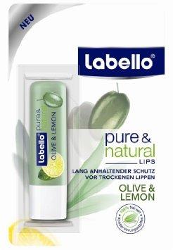 Labello Pure & Natural Olive &n Lemon Lip Balm 4.8ml [European Import] (PACK of 4) European Imports