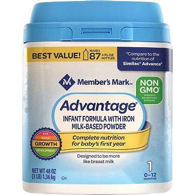 Member's Mark Non-GMO Infant Formula, Advantage (48 -