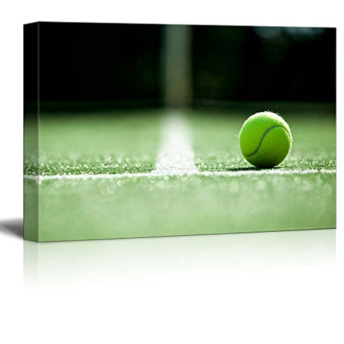 Ace Tennis Ball on Grass Courts Grand Slam Major Tournament