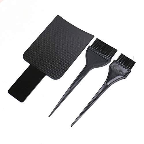WSSROGY Highlighting Paddle with 2 Hair Dye Tint Brush Balayage Kit Balayage Brush Board for Hair Stylist