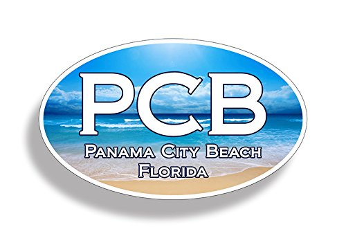 PCB Panama City Beach Ocean Sticker Oval Vinyl FL Florida Car Truck Laptop Cup - Panama Florida City In Stores