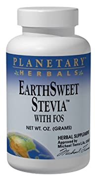 EarthSweet Stevia w FOS Planetary Herbals 8 oz Powder