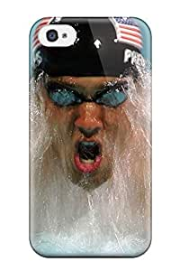 Excellent Iphone 4/4s Case Tpu Cover Back Skin Protector Michael Phelps Poster