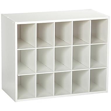 ClosetMaid 8983 Stackable 15-Cube Organizer, White