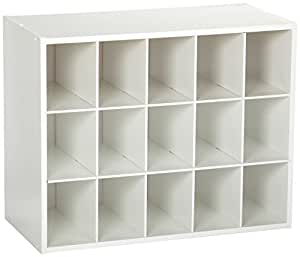 ClosetMaid 8983 Stackable 15 Unit Organizer, White