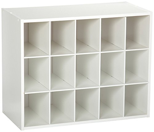 - ClosetMaid 8983 Stackable 15-Unit Organizer, White