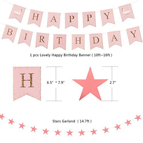 Treedeng Macaron balloon birthday balloon decoration 69 Pcs Macaron Pink Lovely Fashion Dream Birthday Party Decoration