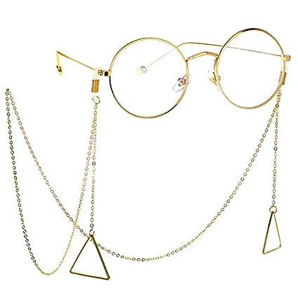 DFHNJIY Mujeres Cadena de Gafas Geométrica Cuelga Gafas de ...