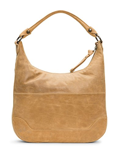 FRYE Beige Handbag Zip Leather Hobo Melissa rTBqr