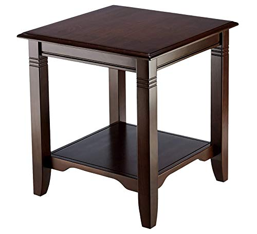 Furniture Wood End Table - Dark Mahogany Home Office Commerial Heavy Duty Strong ()