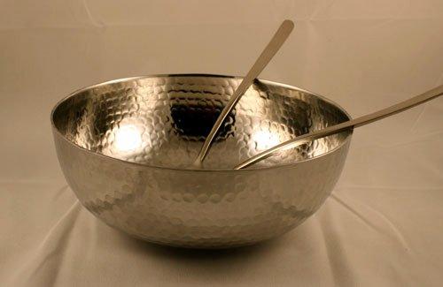 Hammered Aluminum Salad Bowl