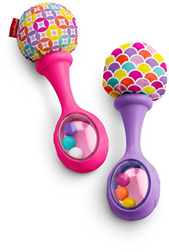 Fisher-Price Rattle 'n Rock Maracas, Pink/Purple (Rattles Toys Set)