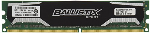 (Ballistix Sport 4GB Kit (2GBx2) DDR2 800MHz (PC2-6400) UDIMM 240-Pin Memory BLS2KIT2G2D80EBS1S00)